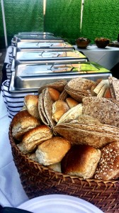 bread and dishes